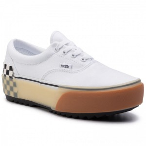 Vans Turnschuhe Era Stacked VN0A4BTOTDC1 White/Checkerboard [Outlet]