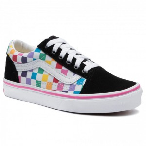 Vans Turnschuhe Old Skool VN0A4BUUU091 (Checkerboard) Rainbow/Tr [Outlet]