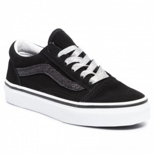 Vans Turnschuhe Old Skool VN0A4BUUXNO1 (Glitter Sidstrp) Blktrwht [Outlet]
