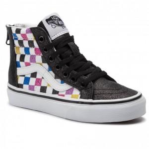 Vans Sneakers Sk8-Hi Zip VN0A4BUXV3P1 (Glitter Chkrbr)Blktwht [Outlet]