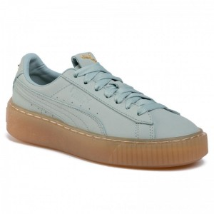 Puma Sneakers Platform Premium Logo Wn's 36992102 02 Gray Mist/Puma Team Gold [Outlet]