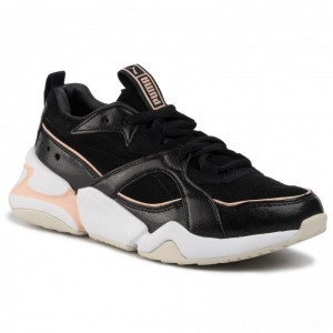 Puma Sneakers Nova 2 Suede Wn's 37095901 01 Black/Peach Parfait [Outlet]