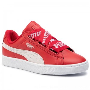Puma Sneakers Basket Heart De Wn's 364082 03 Toreador/PumaWhite [Outlet]
