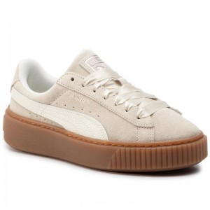 Puma Sneakers Suede Platform Bubble Wn's 366439 02 Marshmallow [Outlet]