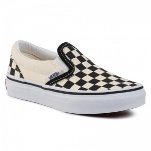 Vans Turnschuhe Classic Slip-On VN000ZBUEO11 (Checkerboard) Black/Wht