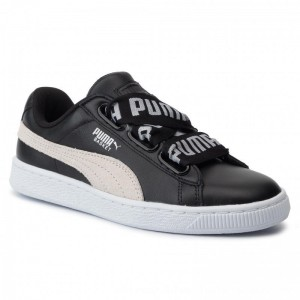 Puma Sneakers Basket Heart De Wn's 364082 01 Black/Puma White [Outlet]