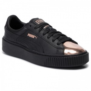 Puma Sneakers Basket Platform Metallic 366169 02 Black/Rose Gold [Outlet]