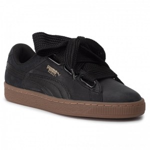 Puma Sneakers Basket Heart Perf GUM 366809 02 Black/Gold [Outlet]