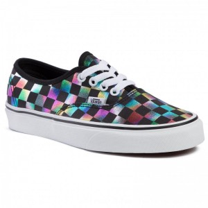 Vans Turnschuhe Authentic VN0A2Z5ISRY1 (Iridescent Check) Blktrwt [Outlet]