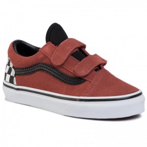 Vans Turnschuhe Old Skool V VN0A4BUVT301 (Suede) Redwood/Black [Outlet]