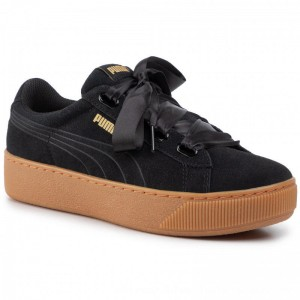 Puma Sneakers Vikky Platform Ribbon 364979 01 Black/Puma Black [Outlet]