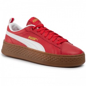 Puma Sneakers Smash Platform Vt 366926 02 Ribbon Red/Puma White [Outlet]