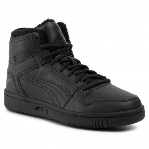 Puma Sneakers Rebound Layup Sl Fur Jr Black/Puma Black [Outlet]