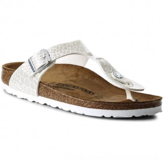 Birkenstock Zehentrenner Gizeh Bs 1009116 Magic Snake White [Outlet]