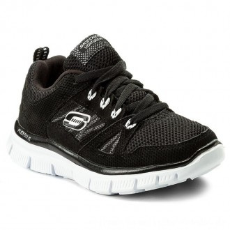 Skechers Halbschuhe Flex Advantage 95521L/BKW Black/White