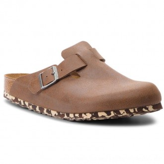Birkenstock Pantoletten Boston Bs 1012260 Sandwashed Brown [Outlet]