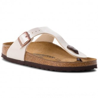 Birkenstock Zehentrenner Gizeh Bs 943873 Graceful Pearl White [Outlet]