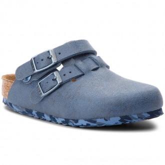 Birkenstock Pantoletten Arizona Kids 1008341 Sandwashed Blue