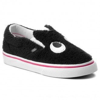 Vans Halbschuhe Slip-On Friend VN0A3TK4U4T (Party Fur) Black/True Wh [Outlet]