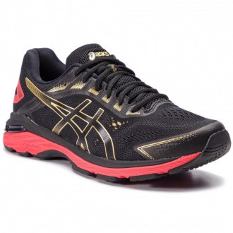 Asics Schuhe GT-2000 7 1011A262 Black/Rich Gold 001 [Outlet]