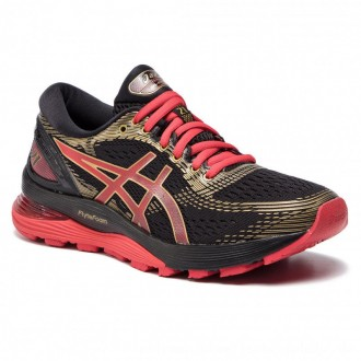 Asics Schuhe Gel-Nimbus 21 1012A235 Black/Classic Red 001 [Outlet]