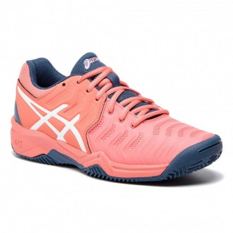 Asics Schuhe Gel-Resolution 7 Clay Gs C800Y Papaya/White 701 [Outlet]