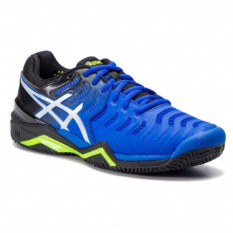 Asics Schuhe Gel-Resolution 7 Clay E702Y Illusion Blue/Silver 407 [Outlet]