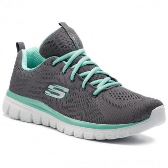 Skechers Schuhe Get Connected 12615/CCGR Charcoal/Green [Outlet]