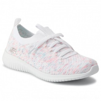 Skechers Schuhe Happy Days 13101/WPKB White/Pink/Blue