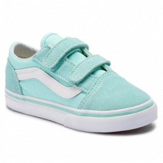 Vans Turnschuhe Old Skool V VN0A344KVIB1 Blue Tint/True White [Outlet]