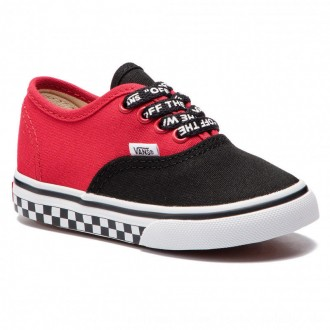 Vans Turnschuhe Authentic VN0A38E7VI71 (Logo Pop) Black/True Whi [Outlet]