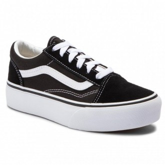 Vans Turnschuhe Old Skool Platfor VN0A3TL36BT1 Black/True White [Outlet]
