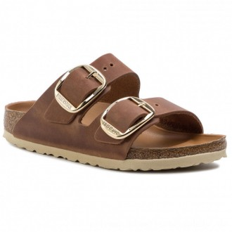 Birkenstock Pantoletten Arizona Big Buckle 1011073 Antique Brown [Outlet]