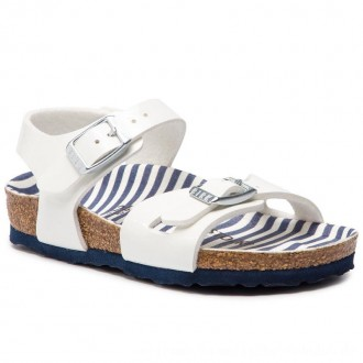Birkenstock Sandalen Rio Kids 1012718 Nautical Stripes White