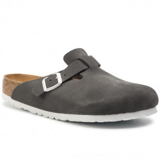 Birkenstock Pantoletten Boston Bs 1012843 Gunmetal [Outlet]