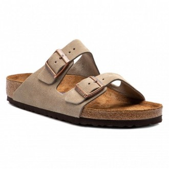Birkenstock Pantoletten Arizona Bs 0951301 Taupe [Outlet]