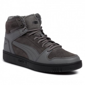 Puma Sneakers Rebound LayUp SD Fur 369831 02 Casterock/Puma Black [Outlet]