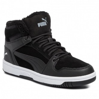 Puma Sneakers Rebound Layup Fur SD Jr 370497 01 Black/Puma White