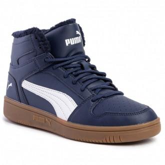 Puma Sneakers Rebound Layup Sl Fur 369830 02 Peacoat/Puma White/Gum [Outlet]