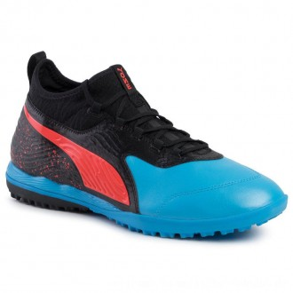 Puma Schuhe One 19.3 Tt 105489 01 Bleu Azur/Red Blast/Black [Outlet]