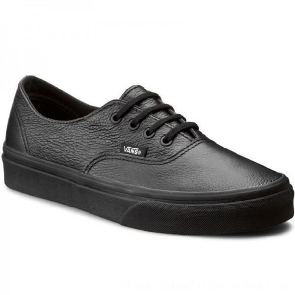 Vans Turnschuhe Authentic Decon VN00018CGKM (Premium Leather) Black/Black [Outlet]