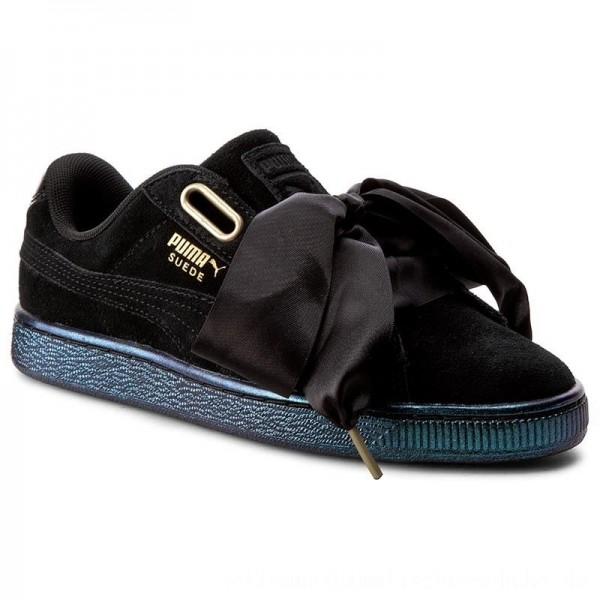 Puma Sneakers Suede Heart Satin Wn's 362714 03 Black/Puma Black [Outlet]