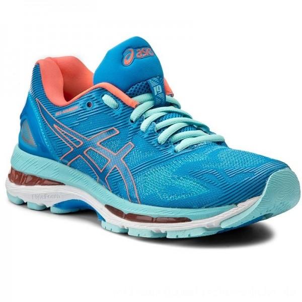 Asics Schuhe Gel-Nimbus 19 T750N Diva Blue/Flash Coral/Aqua Splash 4306 [Sale]