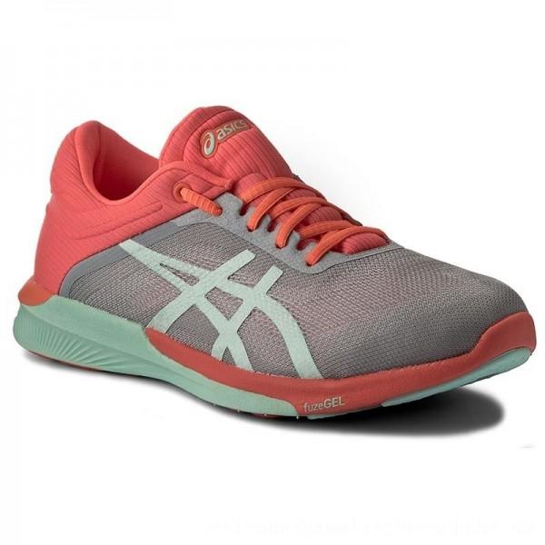 Asics Schuhe FuzeX Rush T768N Midgrey/Bay/Flash Coral 9690 [Outlet]