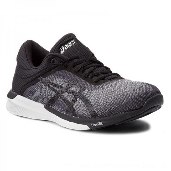 Asics Schuhe FuzeX Rush T768N Midgrey/Black/White 9690 [Outlet]