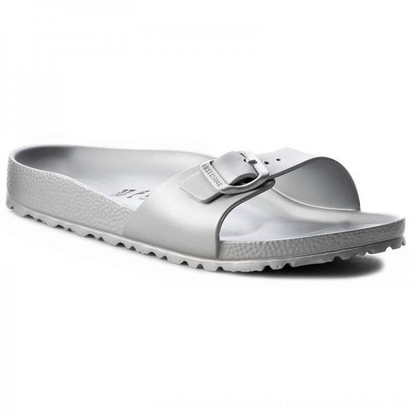 Birkenstock Pantoletten Madrid 1003493 Silver [Outlet]