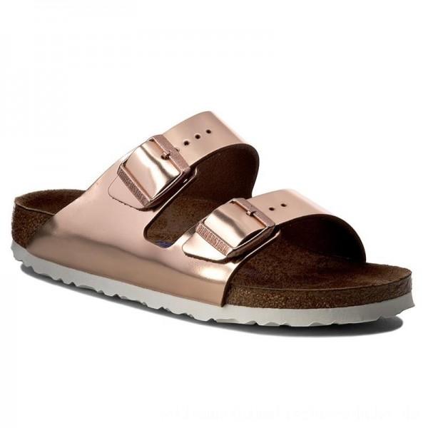 Birkenstock Pantoletten Arizona 0952093 Metallic Copper [Sale]