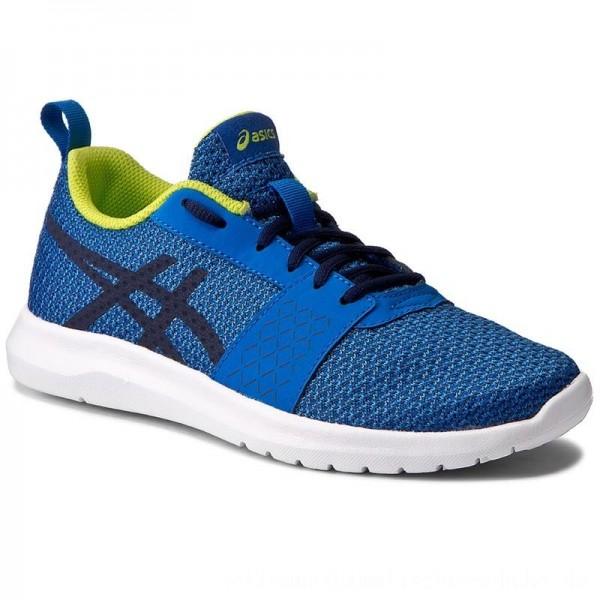 Asics Schuhe Kanmei Gs C745N Directoire Blue/Peacoat/Energy Green 4358 [Outlet]