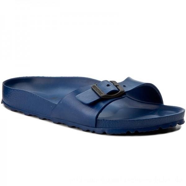 Birkenstock Pantoletten Madrid 0128173 Navy [Sale]