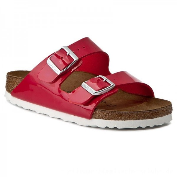 Birkenstock Pantoletten Arizona 1005283 Tango Red Patent [Outlet]